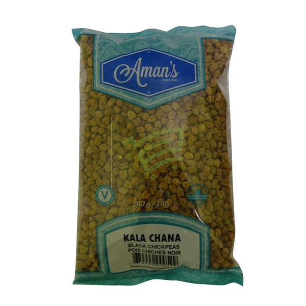 Indian grocery online - Aman's Kala Chana 2lb - Cartly