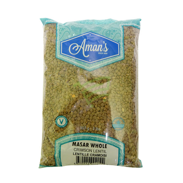 Indian grocery online - Aman's Masar Dal Whole 2lb - Cartly